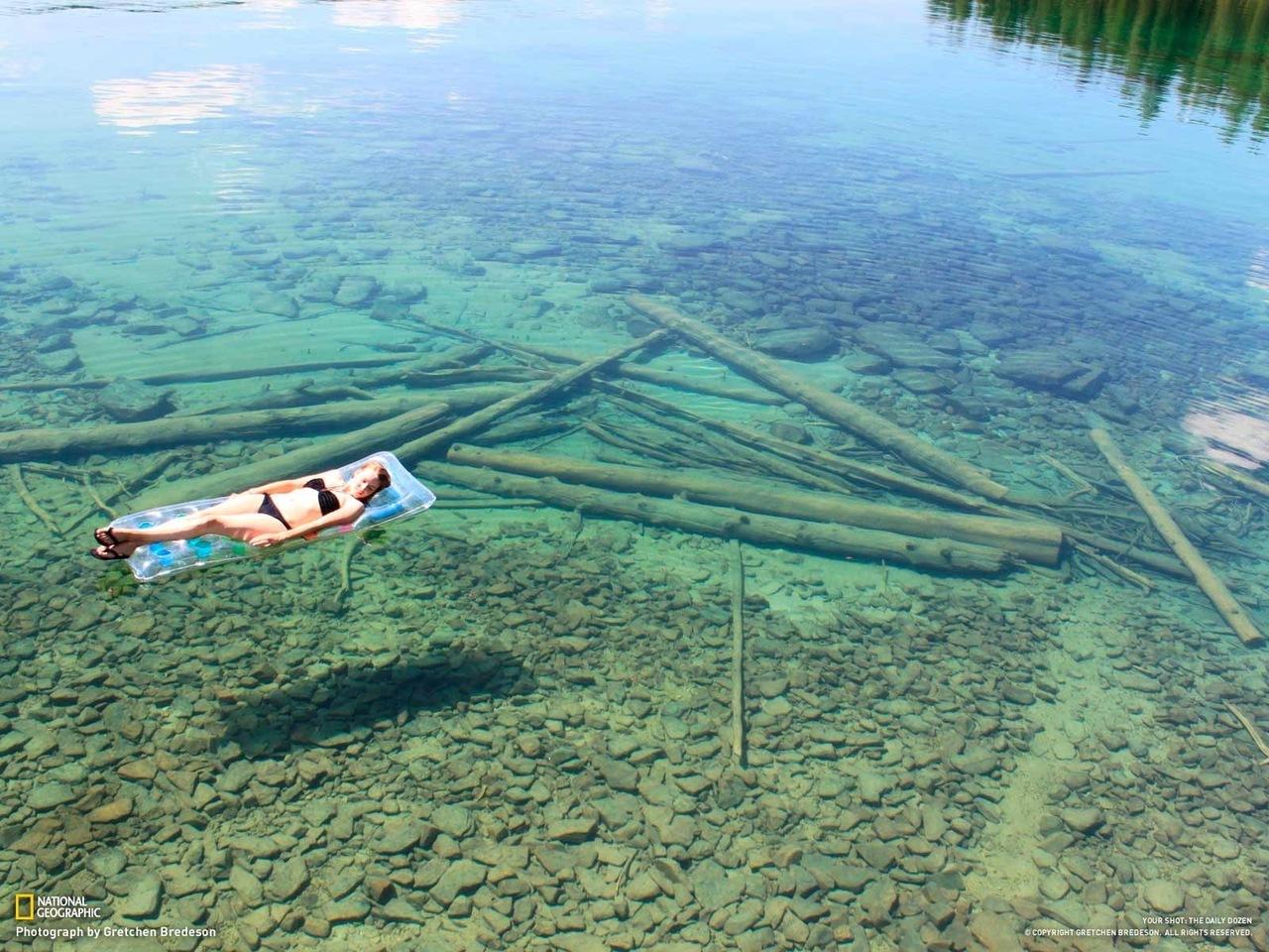Озеро на северо западе штата монтана